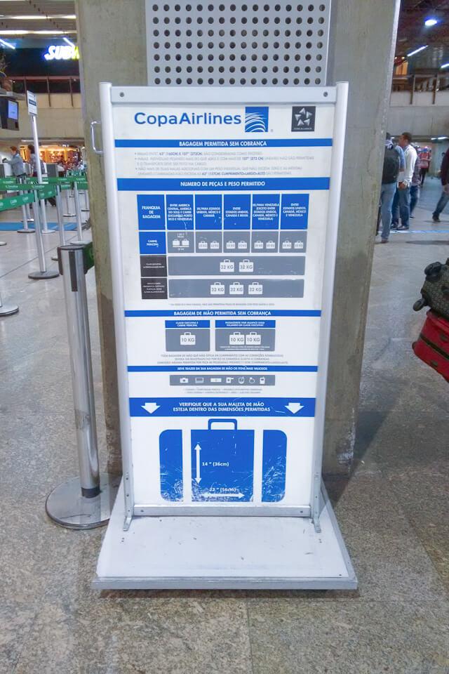 Como é voar Copa Airlines? informações sobra a bagagem