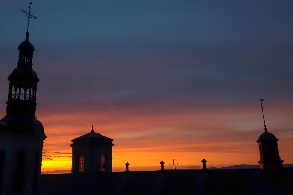 Por do Sol na Basílica de Notre Dame de Quebec