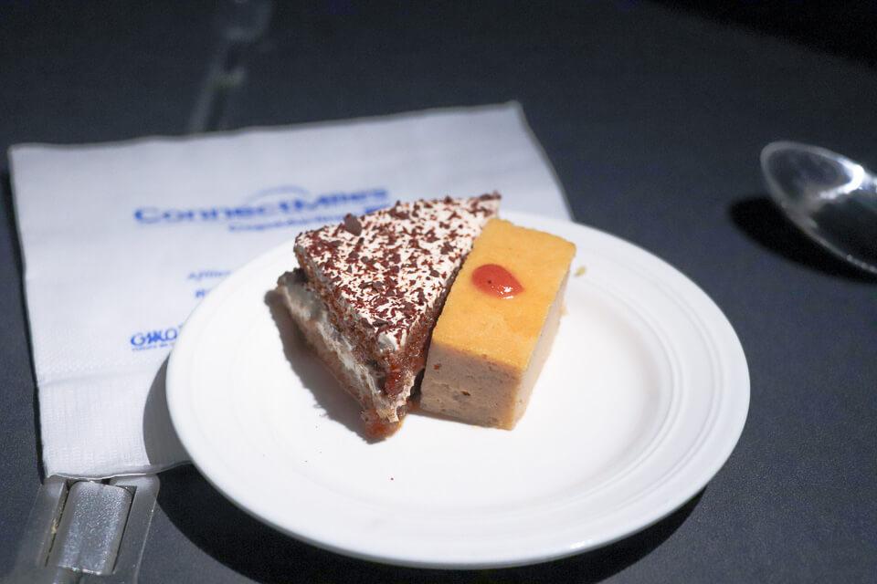 Como é voar Copa Airlines? Sobremesa da classe executiva (business)