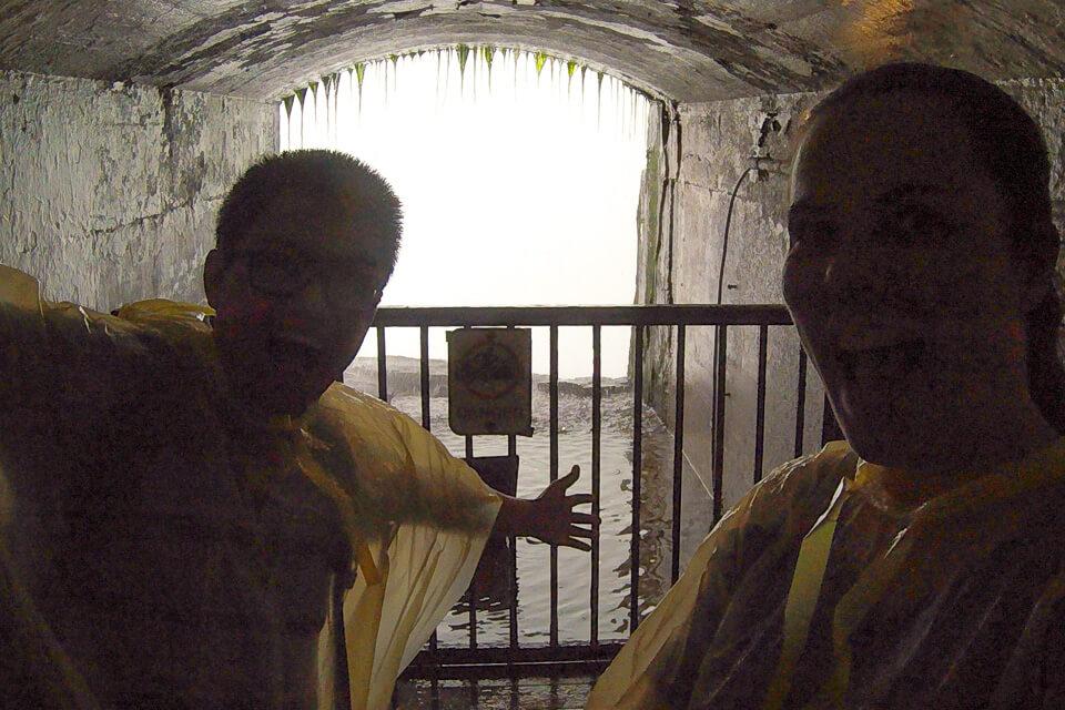 Os túneis por trás das Cataratas de Niagara
