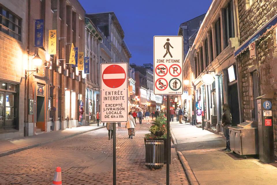 Rua Saint Paul é a rua mais antiga de Montreal, Canada