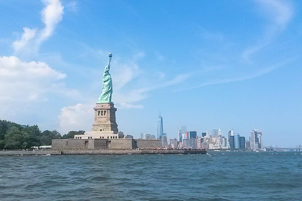 Roteiro em Nova York com Estátua da Liberdade