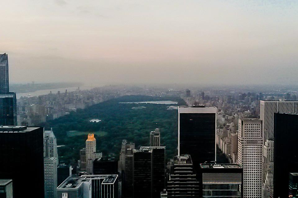 Top of the Rock no Rockefeller Center é um dos principais pontos turísticos de Nova York