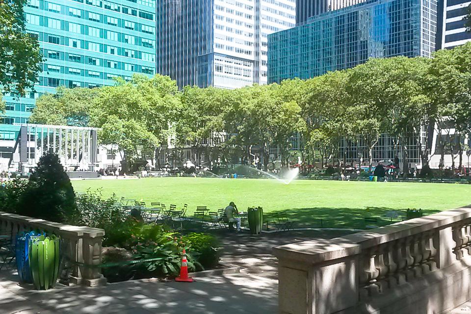 Roteiro em Nova York com almoço no Bryant Park
