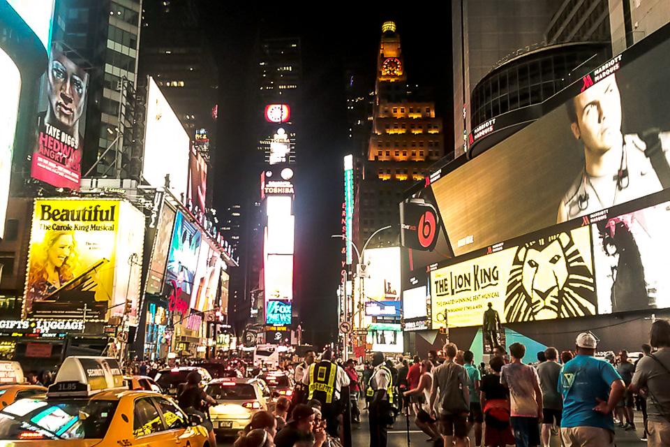 Roteiro em Nova York com Times Square
